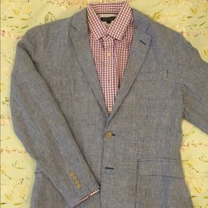 J. Crew Men's Unstructured Blazer Blue